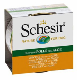 Schesir Dog Jelly Chicken & Aloe 10 x 150 gr