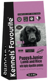 Kennels Favourite Pup & Junior Lamb and Rice - 12,5 kg.