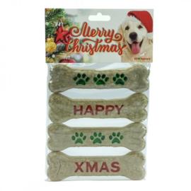 K9 Santa's Merry Christmas munchy kluifjes 15,5 cm 4 stuks