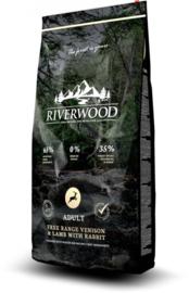 Riverwood Adult, Free Range Hert & Lam met Konijn 2 kg