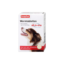 Wormtabletten All-in-One hond 2,5 - 40kg 4st