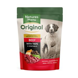 Natures Menu Dog Pouch Beef & Tripe  - 300 gr