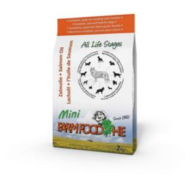 Farm Food HE Zalmolie Puppy&Mini 4 kg Nu: inclusief  Farmfood dentarol!