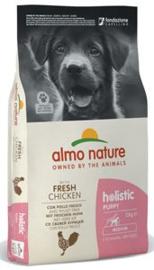 Almo Nature Holistic Dog M Puppy Kip & Rijst 12 kg