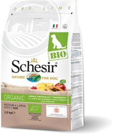 Dubbelpak! Schesir Dog Dry Bio Main Chicken  2x 2.5 kg