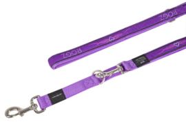 ROGZ ARMED RESPONSE LIJN MULTI PURPLE CHROME XL - 25MM