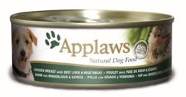 Applaws Dog Can Chicken, Liver & Veg. 12 x 156 gr