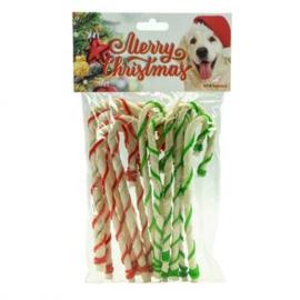 K9 Santa's Merry Christmas rawhide Twisted 22 cm 14stuks