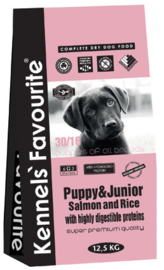 Kennels Favourite Pup & Junior Salmon and Rice - 20 kg.