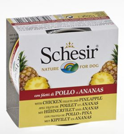 Schesir Dog Fruit Chicken & Pineapple 10 x 150 gr
