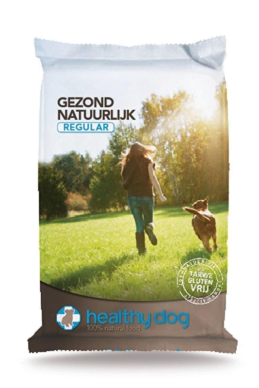 Dubbelpak Healthy dog regular 2x 15kg NU: inclusief Biofood Rol snack!