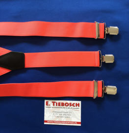 Bretels 3 clips fluor roze