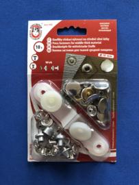 Drukkers middel nikkel 15 mm