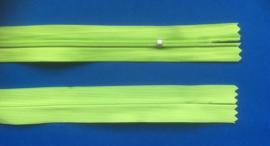 Blinde rits 25 cm lang  lime