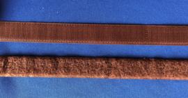 Klittenband 2 cm breed bruin