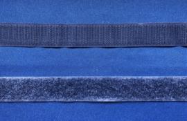 Klittenband 2 cm breed blauw grijs