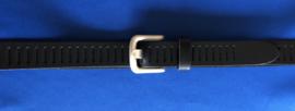 Leren heren riem sleuf zwart 115 cm lang 3 cm breed