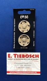 Aannaaibare drukkers nikkel 30 mm