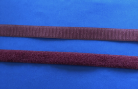 Klittenband 2 cm breed donker rood