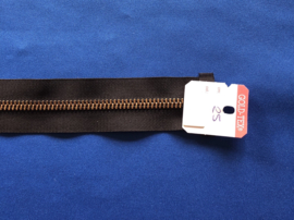 Deelrits brons 25 cm zwart