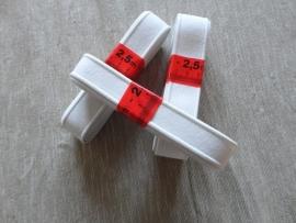 Rijg elastiek wit/zwart 2,5m