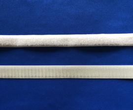 Klittenband 2 cm breed licht beige