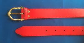 Dames riem 3 cm breed rood 95 cm lang