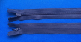 Blinde rits 25 cm donker blauw