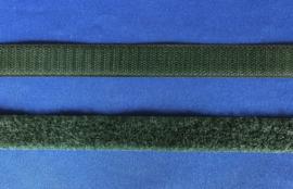 Klittenband 2 cm breed donker groen