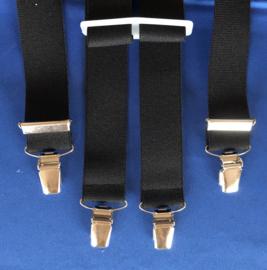 Bretels zwart 25 mm breed