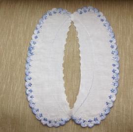 Sierkraagje wit-blauw