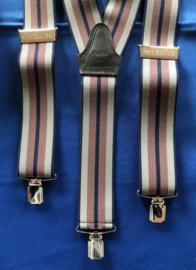 Brandweer bretels met clips blauw/rood