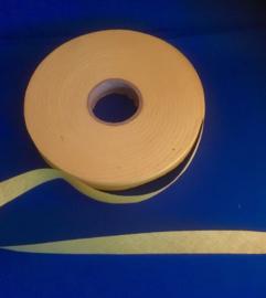 Biasband ongevouwen 2 cm geel