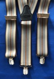 Brandweer bretels met clips bruin/beige