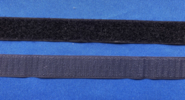 Klittenband 2 cm breed donker blauw