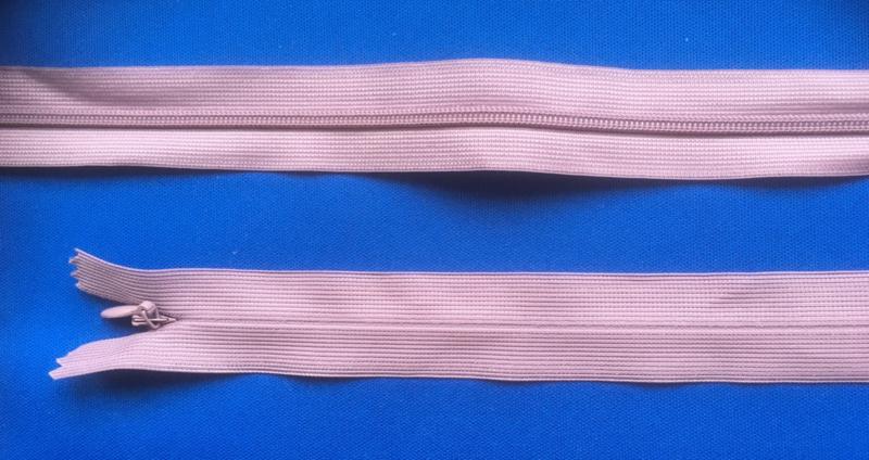 Blinde rits 69 cm oud roze