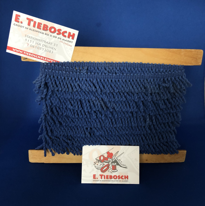 Franje blauw 3 cm
