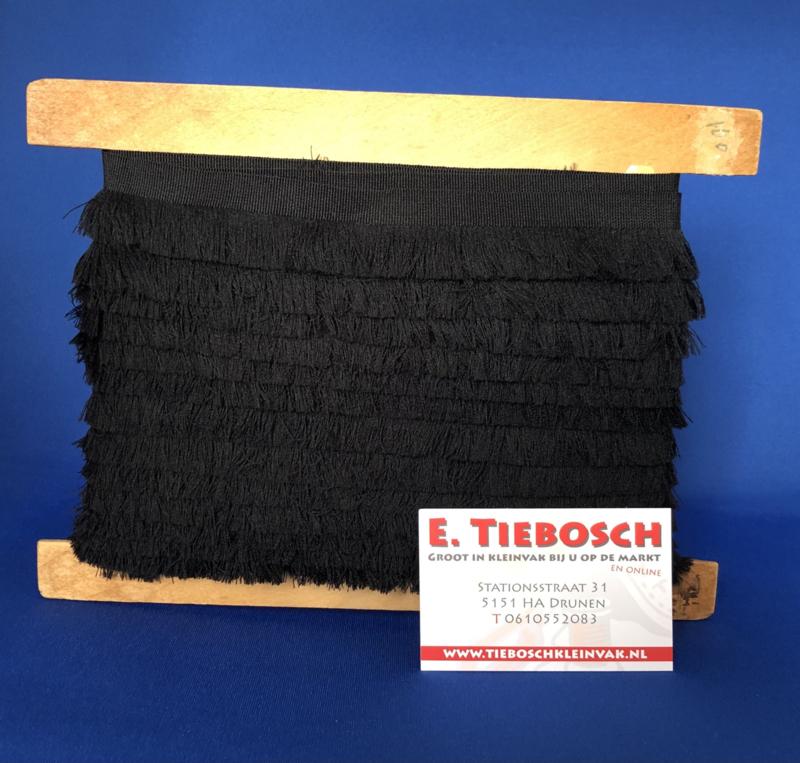Franje 3 cm  zwart