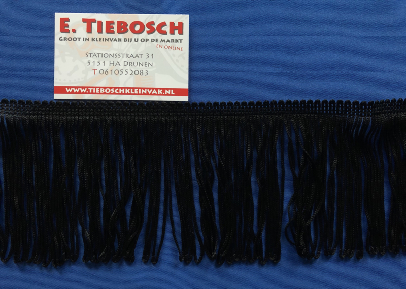 Franje 10 cm zwart