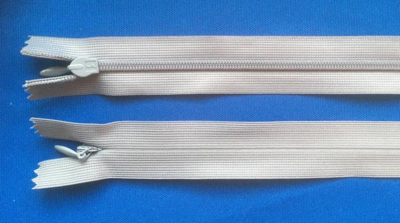 Blinde rits 60 cm grijs