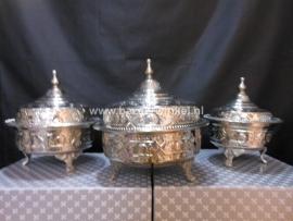 3delig  Marokkaanse suiker/thee schalen