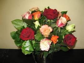 """Boeket """"Gemengde rozen"""" vanaf € 15,-"""