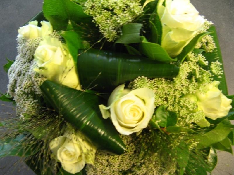 Bruidboeket witte roos