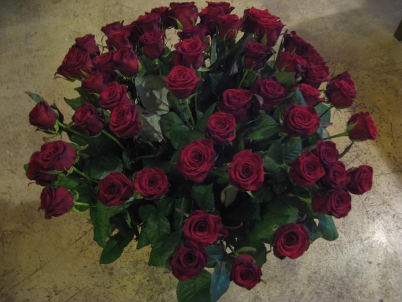 """Boeket """"Rode roos""""             rozen € 1,00 p/st"""