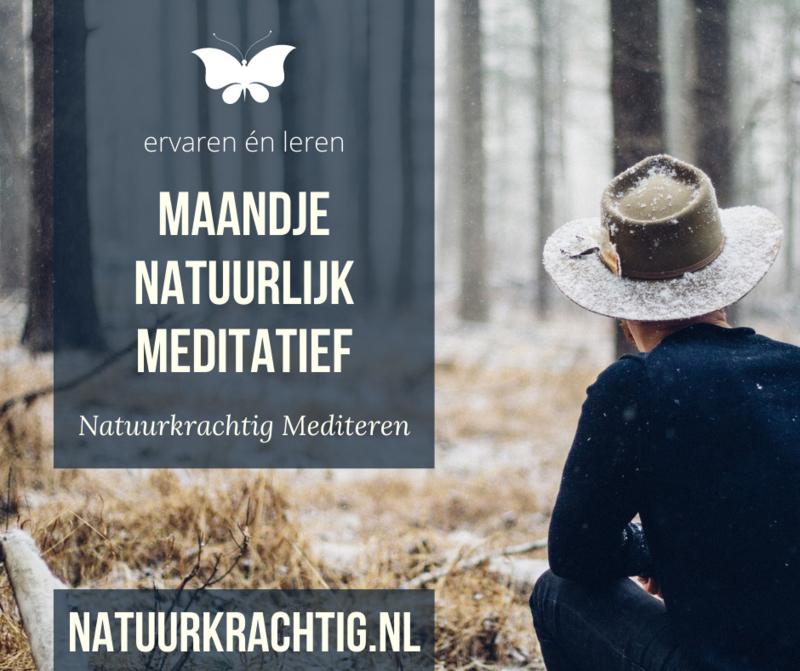 Maandje Natuurlijk Meditatief | startdatum 1 september 2021
