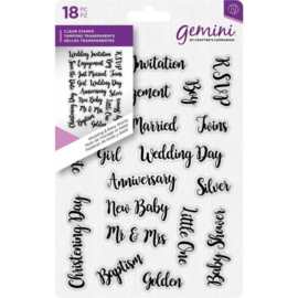Crafter's Companion - Wedding & Baby Words