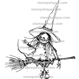 Stampotique - 6267 - Ride the Broom