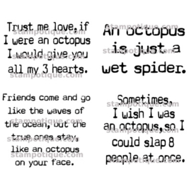 Stampotique - 7445 - Octopus Quotes