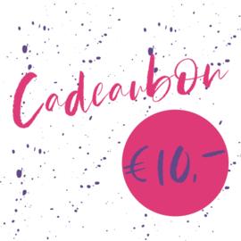 € 10 cadeaubon