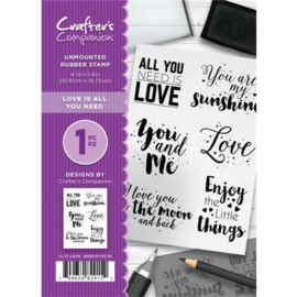 Crafter's Companion - Love is all you need